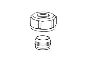 """Klämringskoppling 15 mm - 3/4"""" utvändig gänga"""